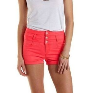 Refuge (Charlotte Russe) High-Waisted Denim Shorts